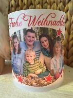 2x Windlicht Frohe Weihnachten Geschenk mit Foto Tischlicht Tischdeko