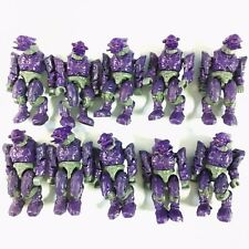 Lot 10pcs Mega Bloks Halo Battle Unit Covenant Purple Combat Elite Reach figure