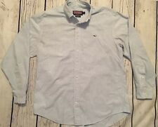 Mens Vineyard Vines Mens Whale Shirt Blue Stripe Size Medium