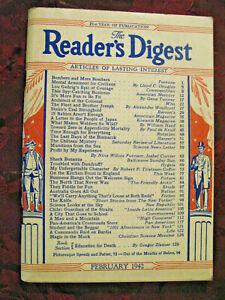 Reader's Digest February 1942 WWII Bombers Alexander Woollcott Lloyd C. Douglas