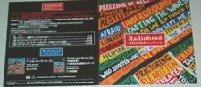 More details for radiohead hail to the thief 2003 original japanese poster cd size: 4x4 inches