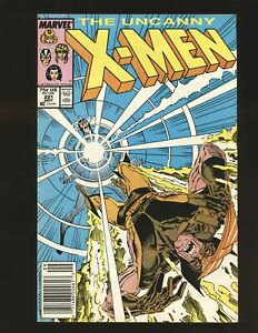 Uncanny X-Men # 221 Newsstand cover Mark Jewelers Insert VG/Fine Cond.