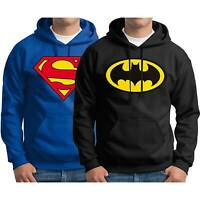 Superman Batman Men's Hooded Sweater Pullover Hoodies Winter Warm Outwear Coat