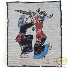 Chinese Folk Art Wall Hanging Batik Tapestry - Love Song of Reed-pipe Instrument