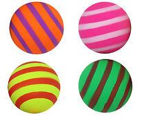 12x Gummiball Neon Ball für Hunde 6 cm geringelt  Moosgummi  Hundespielzeug
