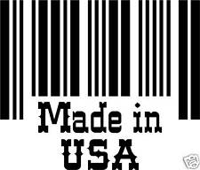 MADE IN USA BARCODE STICKER JEEP  FORD CHRYSLER CAR