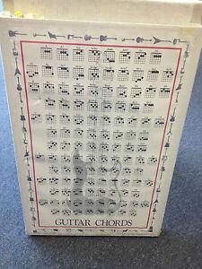 """Best Beginner Learner Teaching Guitar Chord Poster Wall Chart 22.5"""" x 34"""" 1057"""