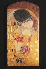 """Gustav Klimt """"DER  KUSS"""" von 1907 mit Echtgold Unikat 7 auf 100 J. altem Ziegel"""