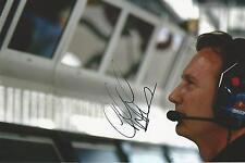 Christian Horner signed 12x8 Image D photo UACC Registered dealer
