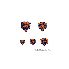 Chicago Bears Finger Nail Tattoos 4 Pack Set NFL