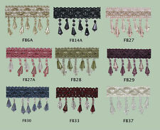 Fringe Beading--SET OF 2 METRES - CHOOSE YOUR COLOUR (from 9 designs)