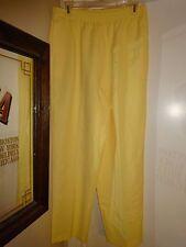 ALIA Yellow Ladies Size 14 Pants Elastic Waist Polyester