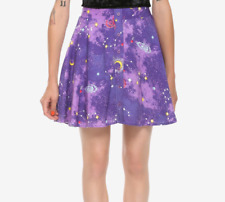 CELESTIAL STARS UNIVERSE PUEPLE GALAXY CONSTELLATIONS SKIRT GOTHIC WICCAN NWT M
