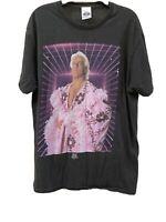 Vintage Wrestling Shirt WWE Official Tee Shirt Black  Ric Flair Adult Medium