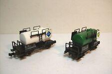 "WAGONS TRAIN N : 2 CITERNE ""ARAL et BP"" de FLEISCHMANN OCCAS (boite 8400-8401)"