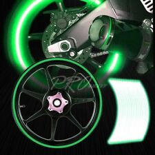 "16/17/18/19"" Reflective Rims Tape/Wheel Rim Decal Stripes Sticker Glowing Green"