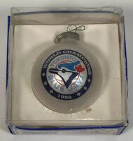 Toronto Blue Jays 1992 World Champions glass Christmas Ornament Sports Collector