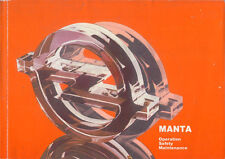 Opel Manta B 1982-83 Original English Handbook 13S 18S 20S 20E