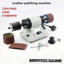 220V Leather Polishing Burnishing machine leather edge Grinding machine 8000RPM