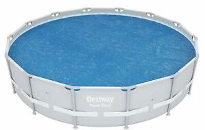 Bestway 15ft Fast Set and 14ft Power Steel Solar Pool Cover BW58252