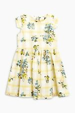 NEXT Girls Yellow/White Stripe Floral Prom Dress Age 14 years RRP £29