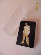 ELVIS PRESLEY Gold Lame Suit Playing Cards Comme neuf Deck officiel EPE Set