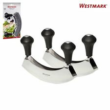 Westmark Stainless Steel Double Blade Mezzaluna Salad Herb Chopper Knife, 2 Pack