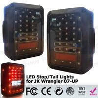 For 07-15 Jeep Wrangler LED Tail Lights Rear Brake Reverse Lamp JK LED Fog Light