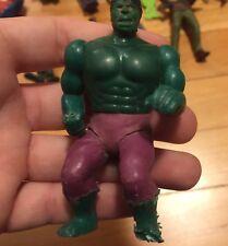 "Vintage 1975 Mego Incredible Hulk pocket heroes Rare Bent Knees Figure 3.5"" READ"