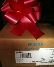 """50-5.5""""  RED CHRISTMAS PULL BOWS~RED  Ribbon - 50ct- 20 LOOP"""