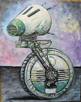 D-O DROID star wars ROBOT ICON 8x10 oil Painting original art signed CROWELL $