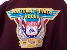 1992 National Finals Rodeo Jacket Las Vegas Nevada XXL Maroon Gold USA Unisex