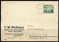 GERMANY DAHLE 7.6.38  POSTCARD TO BERLIN