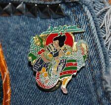Nos vtg 80s 1987 licensed Dokken enamel pin * for shirt jacket hat Glam Metal