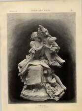 """1892 Charming Sculpture By G Van Der Straeten """"the Kiss"""""""