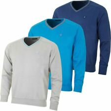 ISLAND GREEN MENS V NECK KNIT JUMPER PULLOVER GOLF SWEATER 57%OFF RRP