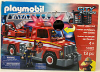 Playmobil City Action Fire Truck #5682 Rescue Ladder Unit- 13 Pieces