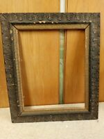 LARGE 19 c. Picture Frame Ornate Wood & Gesso for Painting Mirror Antique