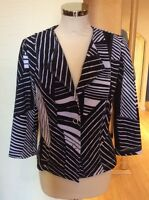 Betty Barclay Jacket Size 10 BNWT Black & White Stripe Pattern RRP £140 NOW £63