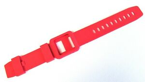 Red Silicone Watch Band Wrist Strap Skin Cover for Apple iPod Nano 6 generation