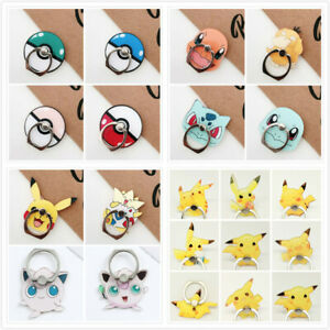 Pokemon Pikachu Universal 360 Cell Phone Finger Ring Holder Bracket Grip Stand