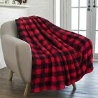 Buffalo+Plaid+Black+Red+Sherpa+Throw+Blanket+for+Couch+Sofa+%7C+Fluffy+Blanket