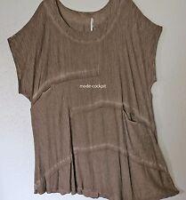 >>zedd..plus>>coole Tunika Long Shirt washed out Optik latte macchiato 52-54 (4)
