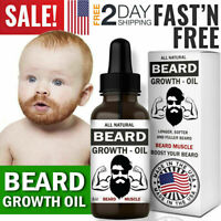 Facial Hair Growth Oil Beard Growing Oil Grooming Fast Natural Treatment for MEN