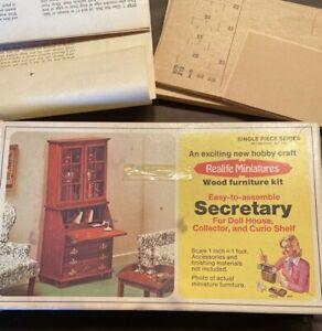 Real Life Miniatures Secretary Kit 228 Doll House Wood Furniture Kit 1975