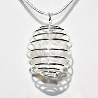 """CHARGED Apophyllite Crystal Perfect Pendant™ + 20"""" Silver Chain REIKI WOW!"""
