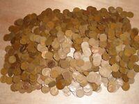 One Bag 5000 Lincoln Wheat Pennies Plus Bonus Coins!! Vintage Antique Cents!!
