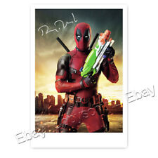 Ryan Reynolds - als Deadpool- Autogrammfotokarte laminiert [K1]