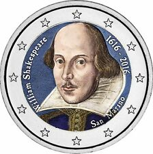San Marino 2 Euro 2016 William Shakespeare Gedenkmünze in Farbe