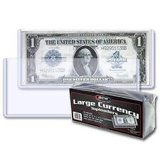 10 loose BCW Large Currency Dollar Bill Topload Holder Storage protection